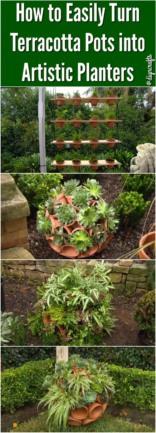How to Easily Turn Terracotta Pots into Artistic Planters {Video}