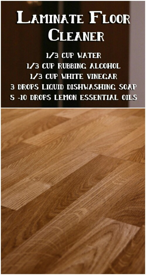 Create your own laminate floor cleaner.