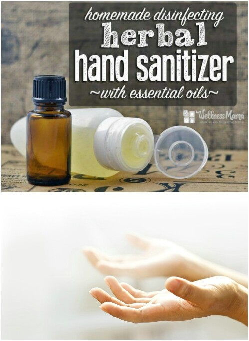 Homemade hand sanitizer.