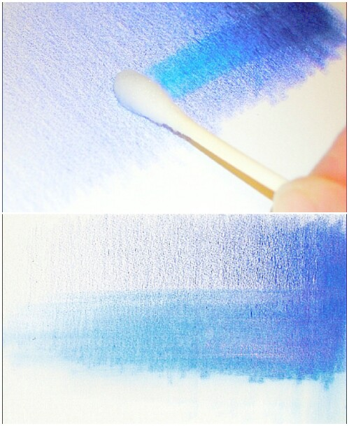 Create washes for blending colored pencil.