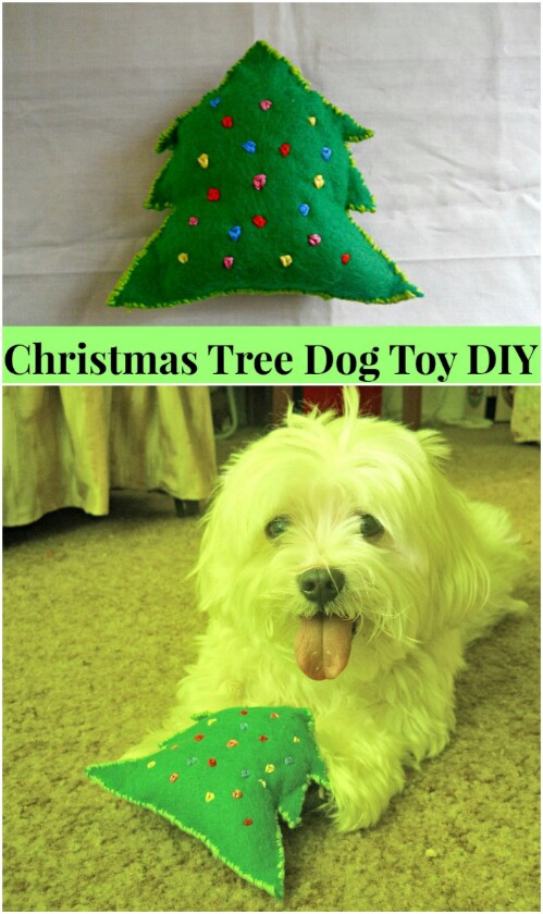DIY Christmas Dog Chew Toy