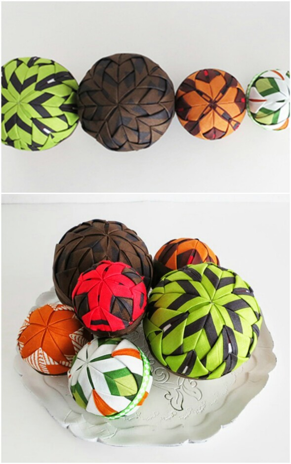 DIY Fabric Deco Balls