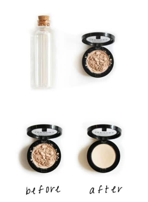 Restore broken eye shadow.