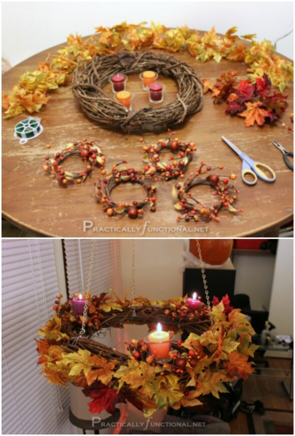 Fall Wreath Chandeliers
