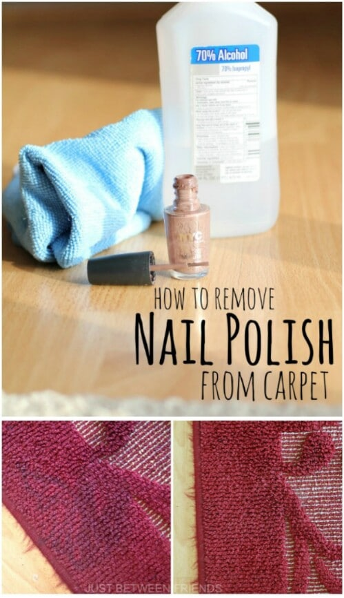 Clean nail polish off your carpet.