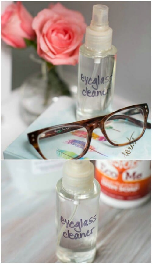 Make your own eyeglasses cleaner.