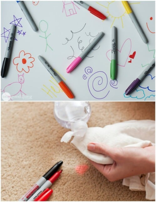 Remove permanent marker from most surfaces.