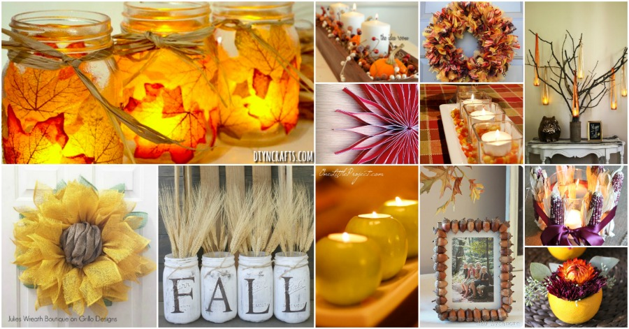 60 Fabulous Fall DIY Projects To Decorate And Beautify Your Home