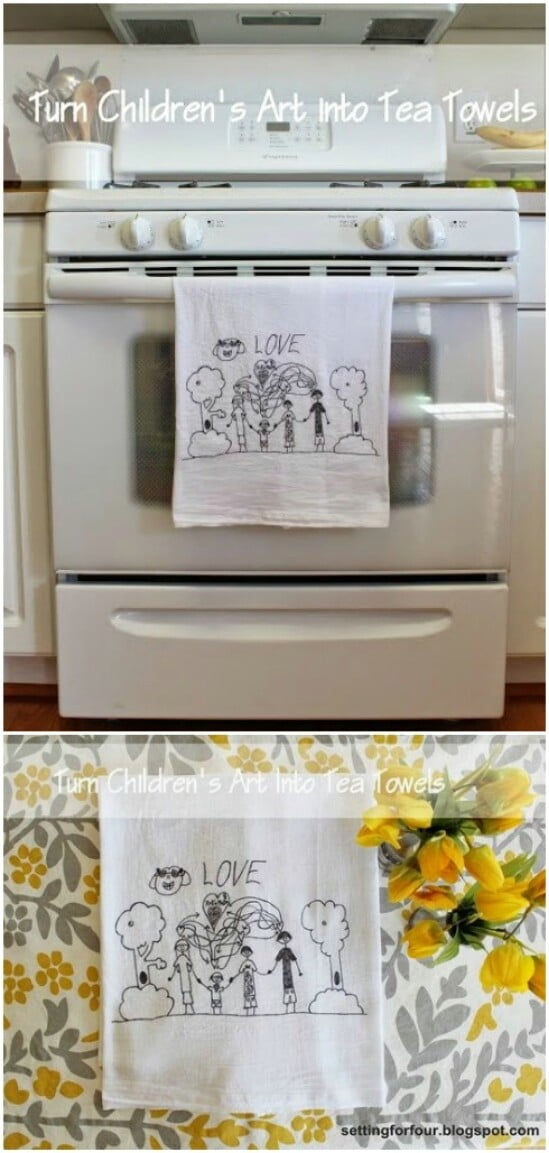 Kids Art Tea Towels