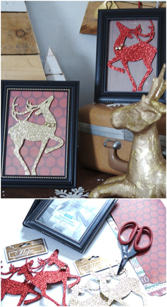 Framed Reindeer Silhouettes