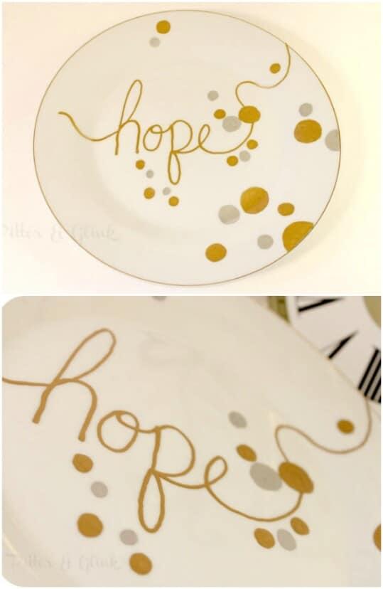 Handwritten Christmas Plates