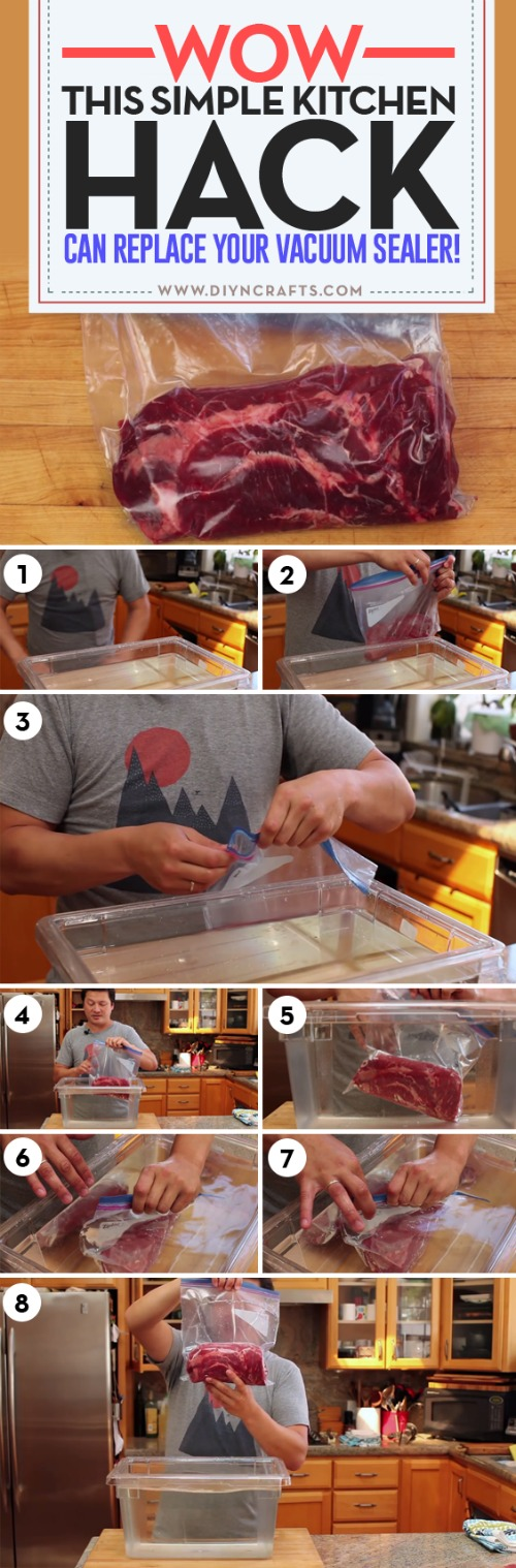 Wow, This Simple Kitchen Hack Can Replace Your Vacuum Sealer!