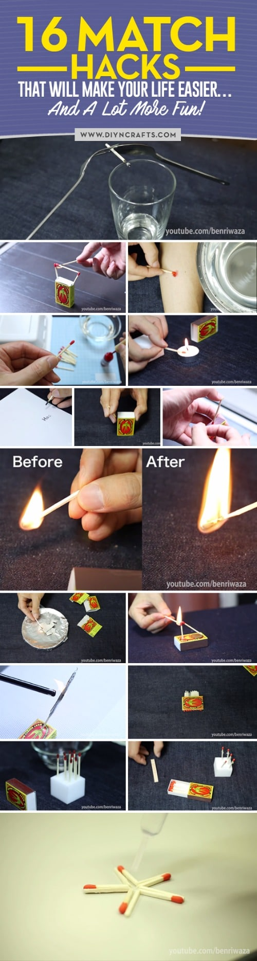 16 Match Hacks That Will Make Your Life Easier… And A Lot More Fun!