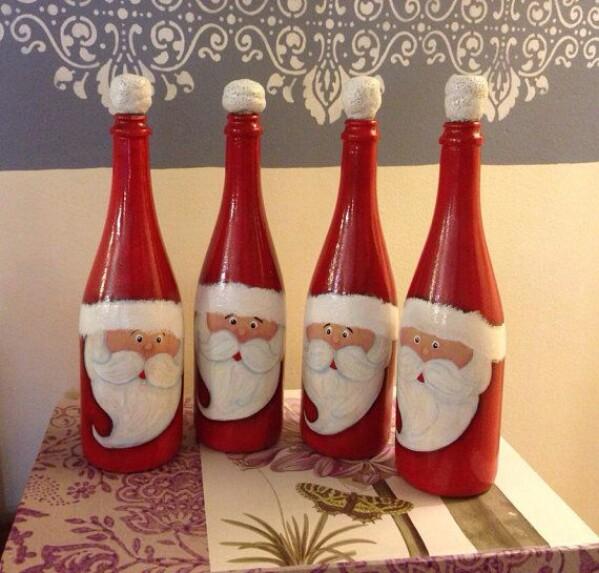 Santa Face Bottles