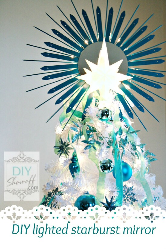 Lighted Starburst Mirror Topper