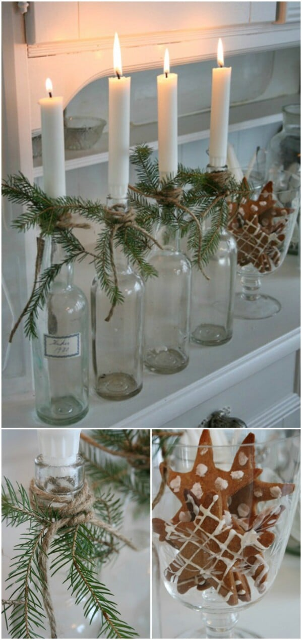 White Snowflake Bottles