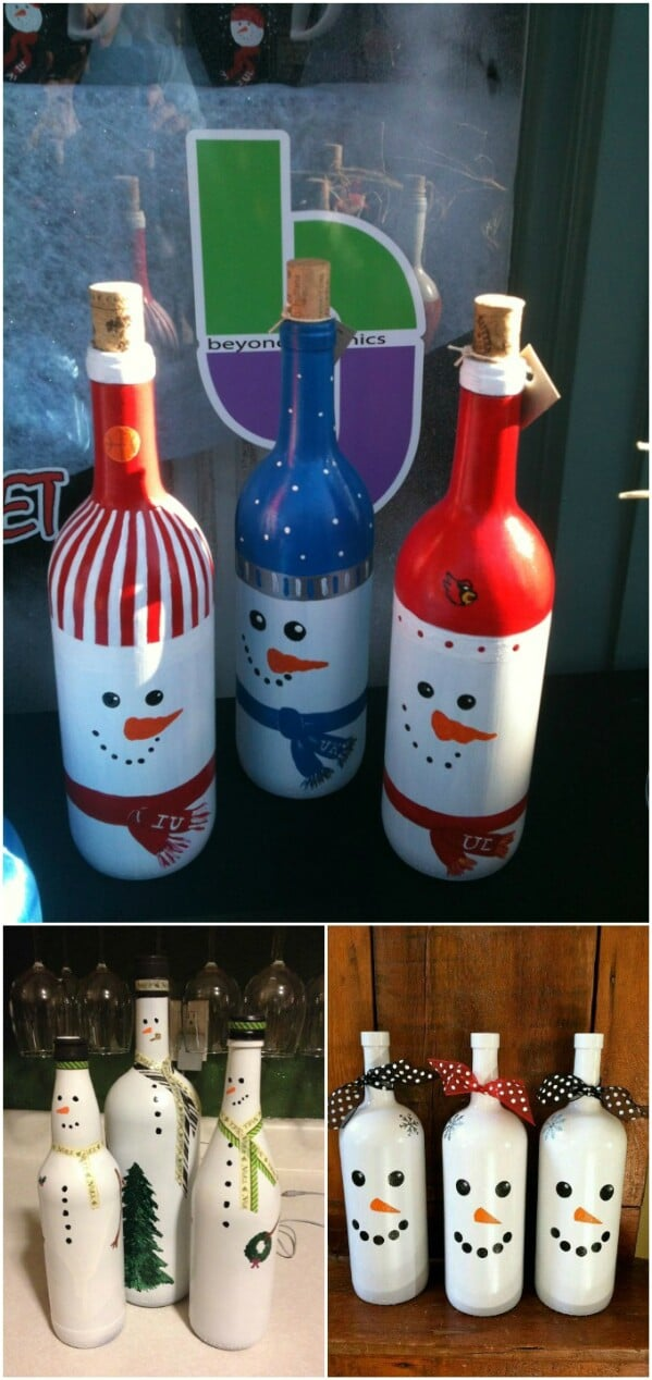 20 Festively Easy Wine Bottle Crafts For Holiday Home Decorating Diy Crafts