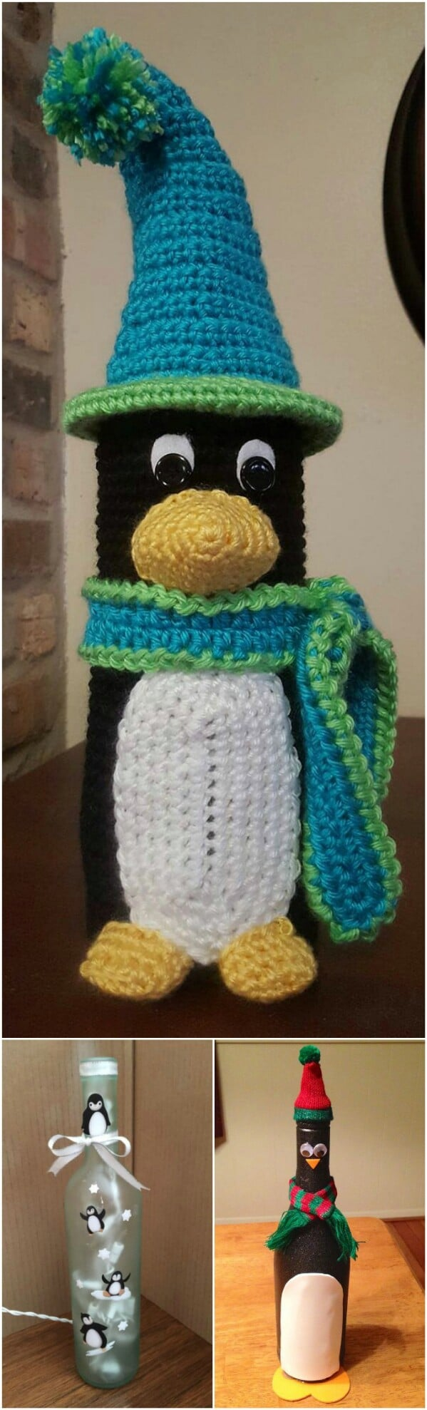 Penguin Wine Bottle