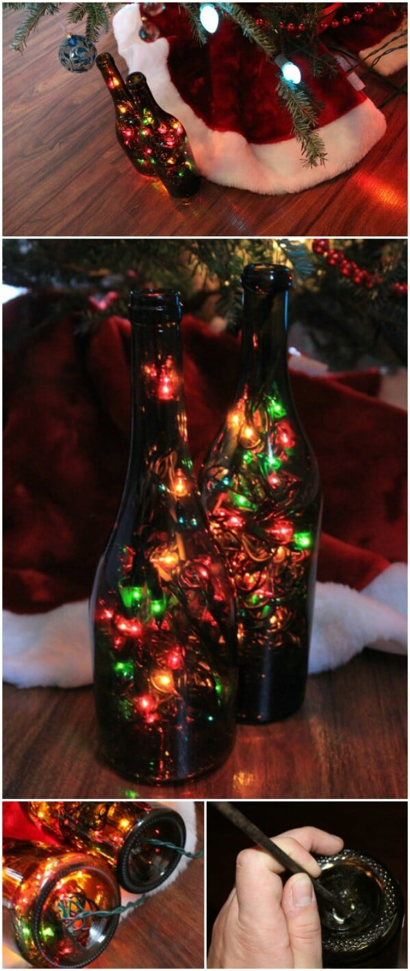 Multi-Colored Bottle Lamps