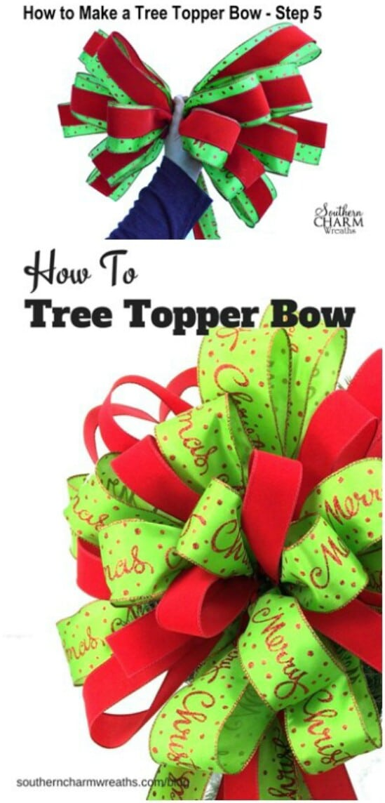 Christmas Wrapping-Inspired Topper
