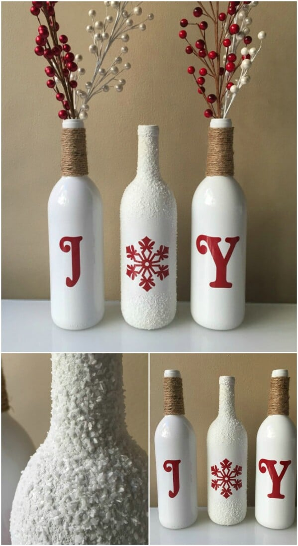 Twined and Painted Bottles