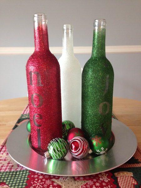 Glittery Embossed Bottles