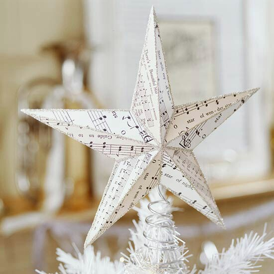 Sheet Music Star Tree Topper