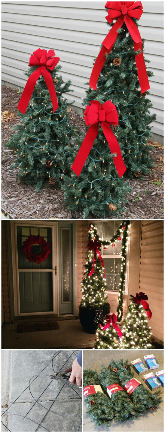 Outdoor Christmas Ribbon.20 Impossibly Creative Diy Outdoor Christmas Decorations