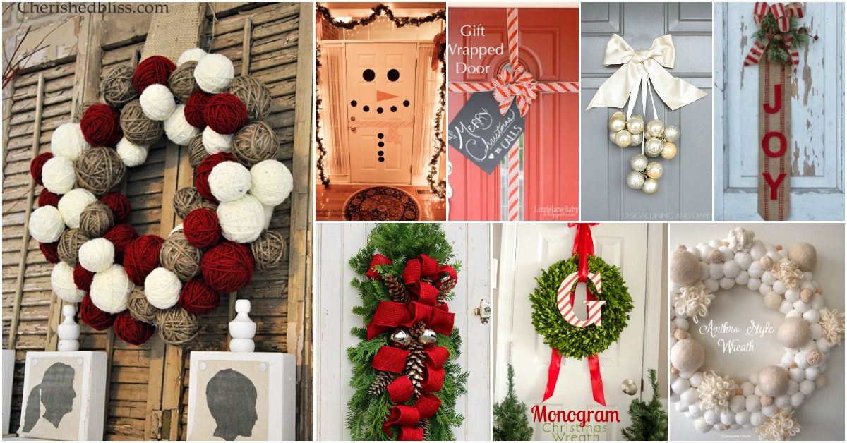 20 Diy Christmas Door Decorations To