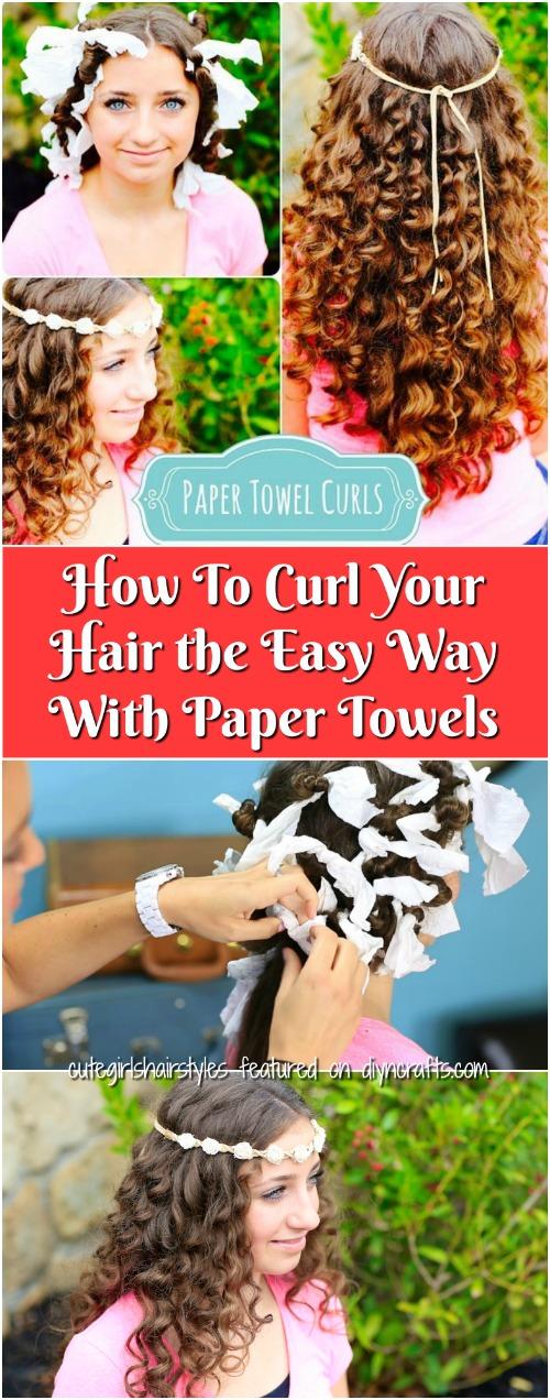 Cách uốn tóc theo cách dễ dàng với khăn giấy {Video}