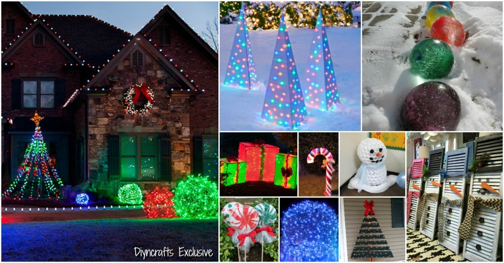 20 Impossibly Creative Diy Outdoor Christmas Decorations Diy Crafts