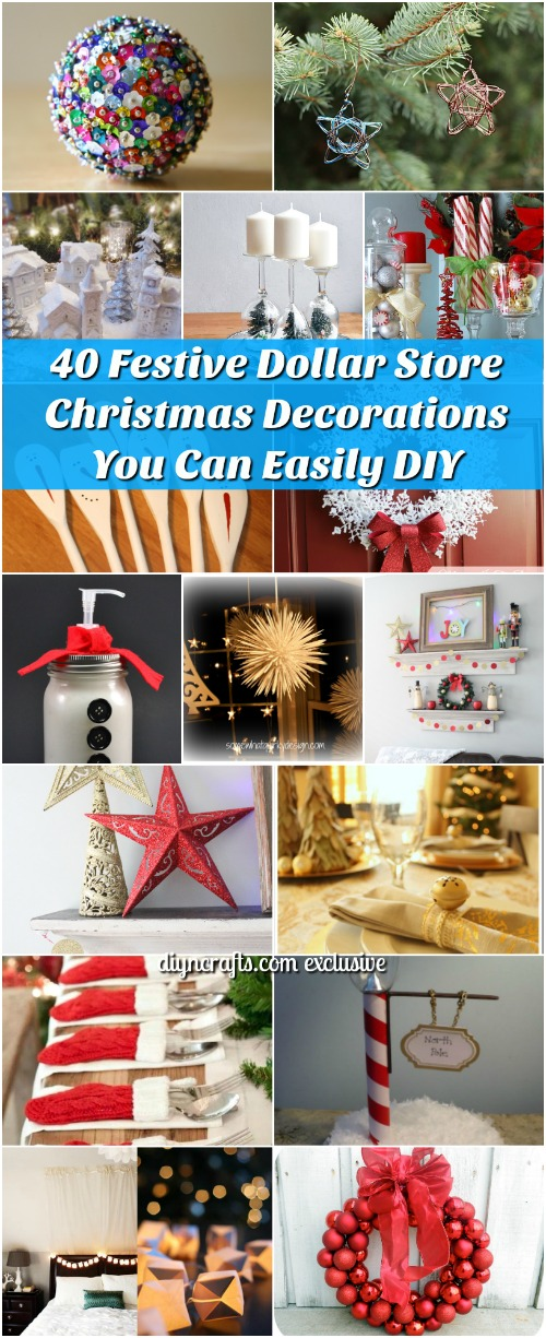 2f89f0ea 40 Festive Dollar Store Christmas Decorations You Can Easily DIY - DIY &  Crafts