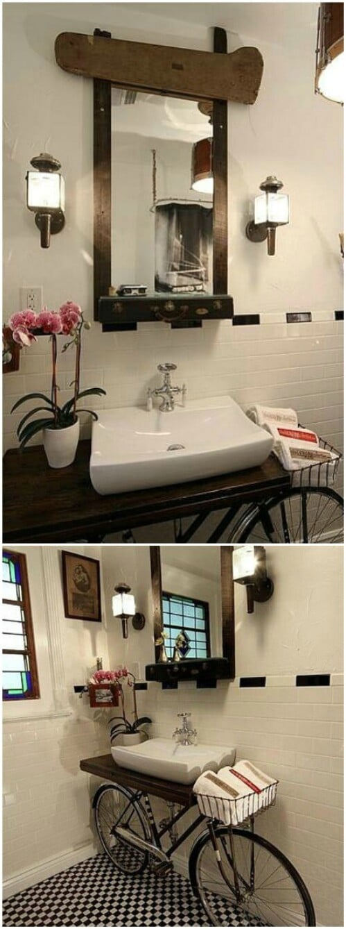 Upcycled Bicycle Vanity