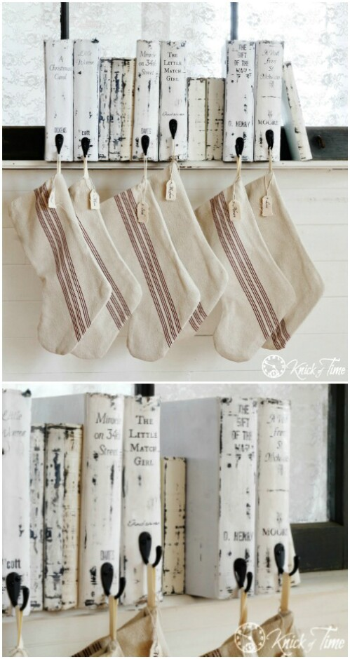 Christmas Book Stocking Holder