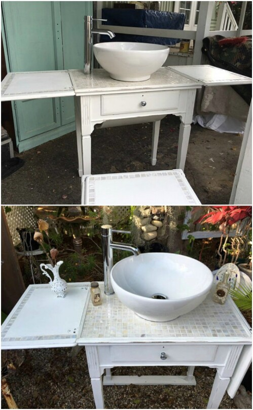 Sewing Machine Vanity