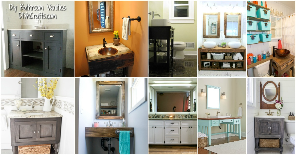 20 Gorgeous Diy Bathroom Vanities To Beautify Your Beauty Routine Diy Crafts