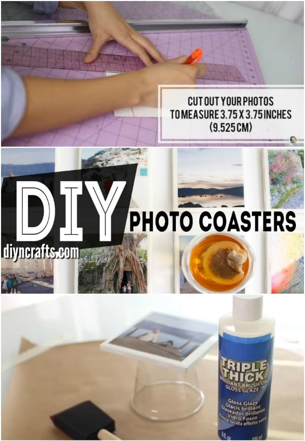 How to Make DIY Drink Coasters Personalized With Photographs {Video Tutorial}