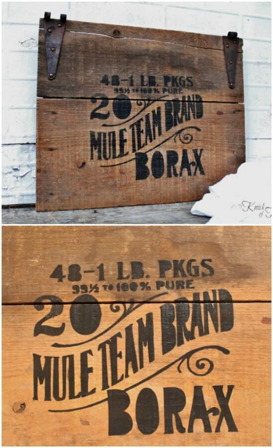 DIY Crate Lid Sign