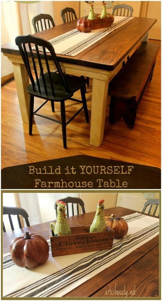 Mesa de cocina de bricolaje