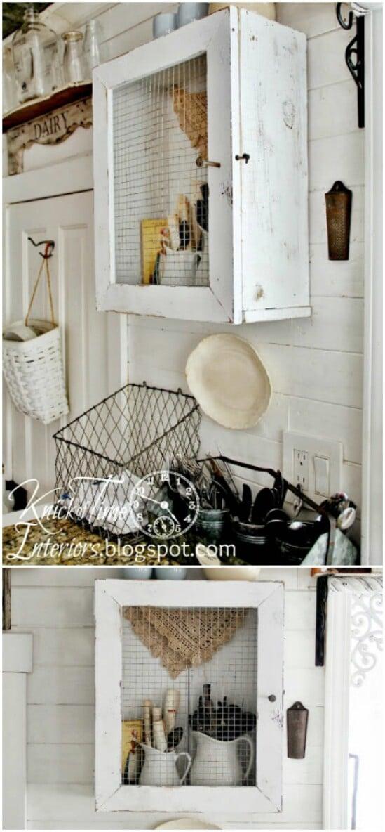 DIY Primitive Farmhouse Cabinet