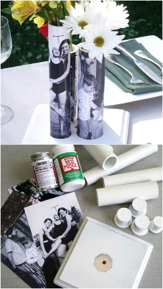DIY PVC Pipe Picture Vase