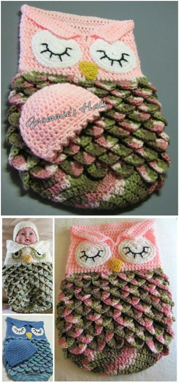 Owl Baby Cocoon and Cap