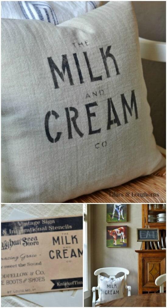 DIY Grain Sack Pillow