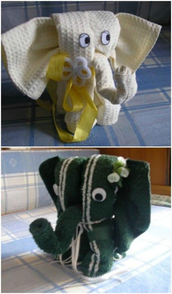 Adorable Towel Elephant