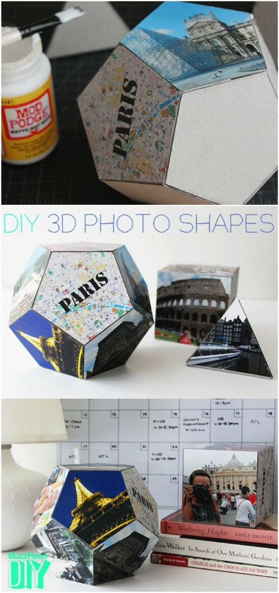 DIY Geometric Photo Shapes