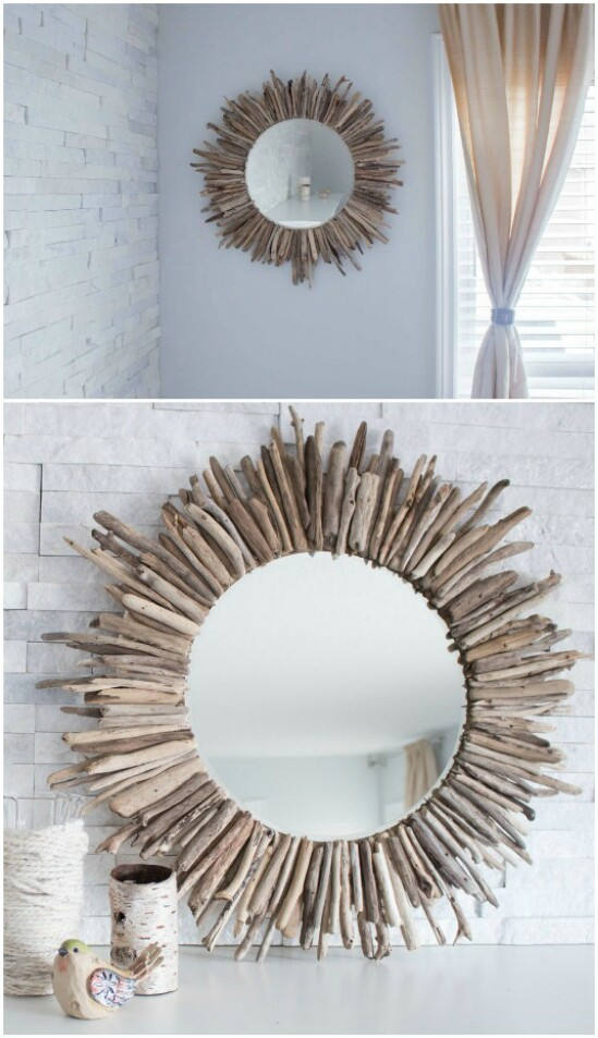 Espejo de madera Starburst