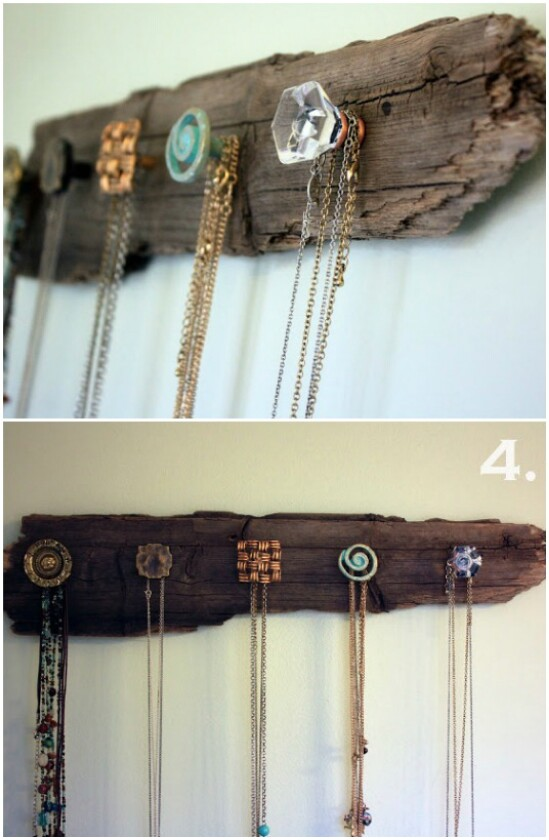 Sostenedor de collar de madera
