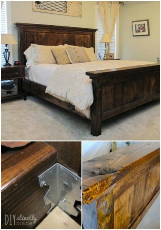 DIY Pottery Barn Inspired Farmhouse Bed