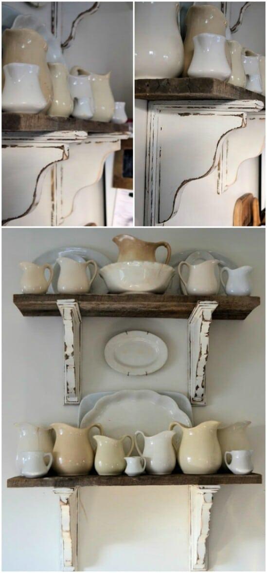 DIY Barn Wood Shelves