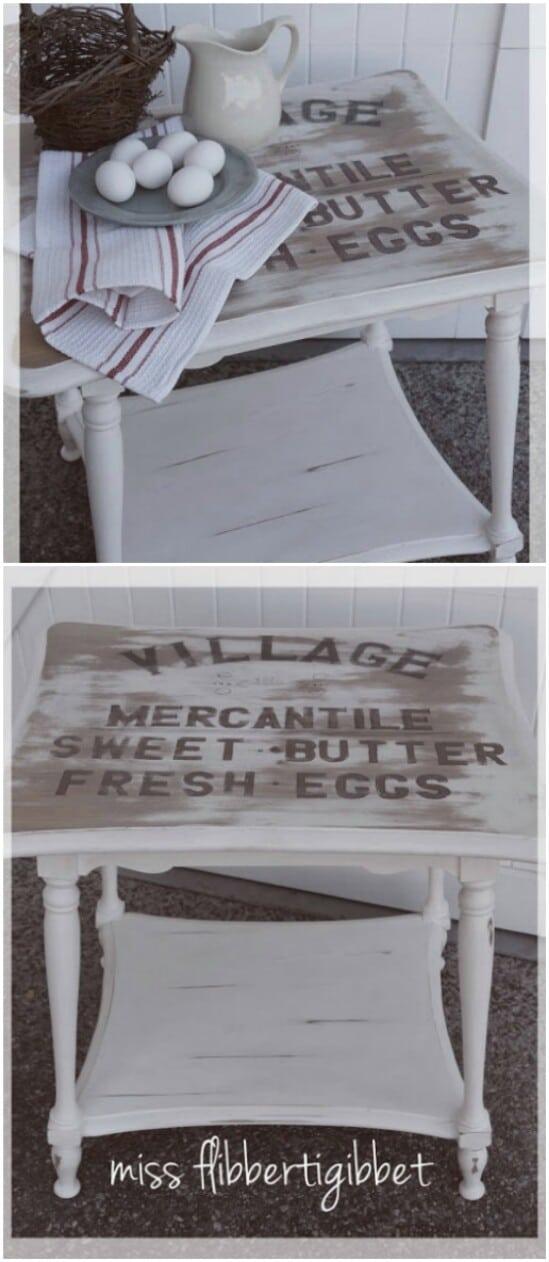 Mesa de acento de granja